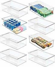 mDesign Juego de 8 cajas organizadoras de