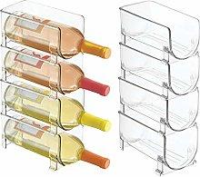 mDesign Juego de 8 modernos estantes para botellas