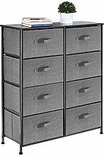 mDesign Mueble cómoda con 8 cajones – Cajonera