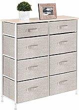 mDesign Mueble cómoda con 8 cajones – Estable