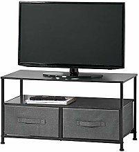 mDesign Mueble de TV con cajas organizadoras –