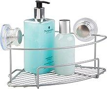 mDesign Mueble esquinero baño con ventosas Color