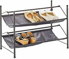 mDesign Organizador de Calzado con 2 estantes –