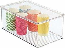 mDesign Organizador de cocina – Cajas apilables