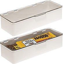 mDesign Organizador de cocina con tapa – Cajas