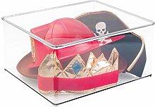 mDesign Organizador de juguetes con tapa - Cajas