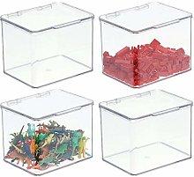 mDesign Organizador de juguetes con tapa –