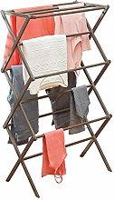 mDesign Tendedero de ropa plegable de bambú –