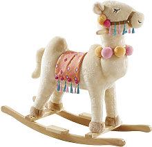 Mecedora camello de álamo beige