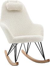 Mecedora tejido lana blanca JHENE