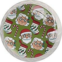 Medias de Navidad Caramelos Santa Claus Rojo Verde