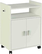 MEGANEI mueble auxiliar k-9420 blanco 795x600x400mm
