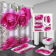 Meigar Rose Rose Pattern Impreso 180x180cm Cortina