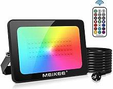 MEIKEE Foco LED RGB de Colores 60W con Control
