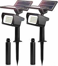 MEIKEE Foco solar LED con 2 niveles de brillo,