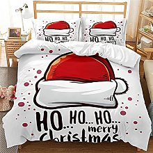 Meimall Juego De Ropa De Cama Rojo Navidad