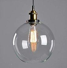Mengjay Cristal Colgante Luz Vintage Metal