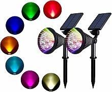 Mengjay Foco Solar colores, LED Luz Solar Jardín