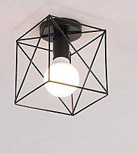 Mengjay Lámpara de techo con pantalla industrial,
