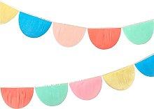 Meri Meri Guirnaldas de papel de seda arcoíris