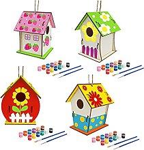 MERIGLARE 4X Niños DIY Construcción de Casas de