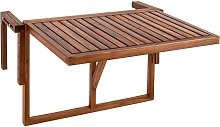 Mesa abatible 60 x 40 cm de madera de teca