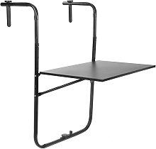 Mesa abatible de metal para balcón 60x40cm negro