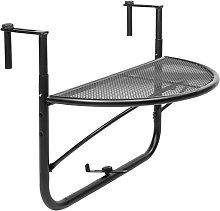 Mesa abatible semicircular para balcón 60x30cm