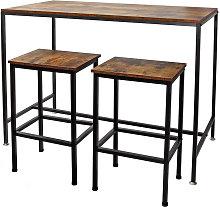 Mesa alta de bar con 2 taburetes Vintage