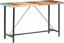 Mesa alta de cocina de madera maciza reciclada