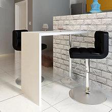 Mesa alta de cocina de MDF y 1 pata de acero