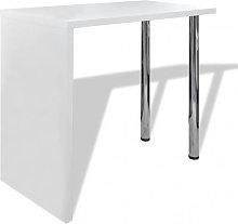 Mesa alta de cocina de MDF y 2 patas de acero