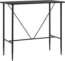 Mesa alta de cocina MDF negro 120x60x110 cm -