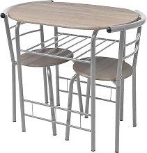 Mesa alta de cocina o bar y taburetes MDF - Beige