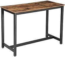 Mesa alta de hierro y madera Vasagle