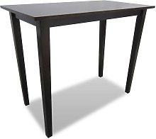 Mesa alta de madera marrón - Hommoo