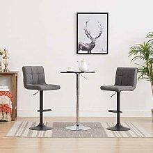 Mesa alta y taburetes de bar 3 piezas negro y gris