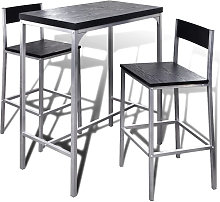 Mesa alta y taburetes de barra de cocina