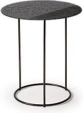 Mesa Auxiliar Celeste Lava Linear Negra -