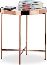 Mesa Auxiliar Cobre Elegante, Mesita Café