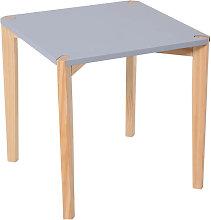 Mesa auxiliar de color gris 45x45x45cm Homcom