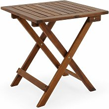 Mesa auxiliar de jardín madera de acacia mesita