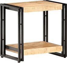 Mesa auxiliar de madera de mango rugosa 40x30x40 cm