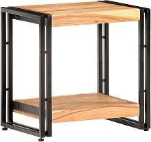 Mesa auxiliar de madera maciza de acacia 40x30x40