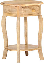 Mesa auxiliar de madera maciza de mango 37x37x61 cm