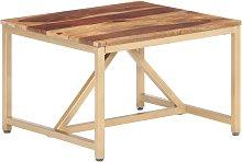 Mesa auxiliar de madera maciza de sheesham
