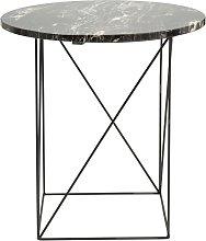 Mesa auxiliar de mármol y metal negros