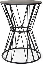 Mesa auxiliar de metal negra