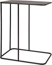 Mesa auxiliar de metal negro
