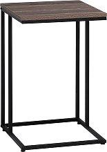 Mesa auxiliar madera/negro TROY